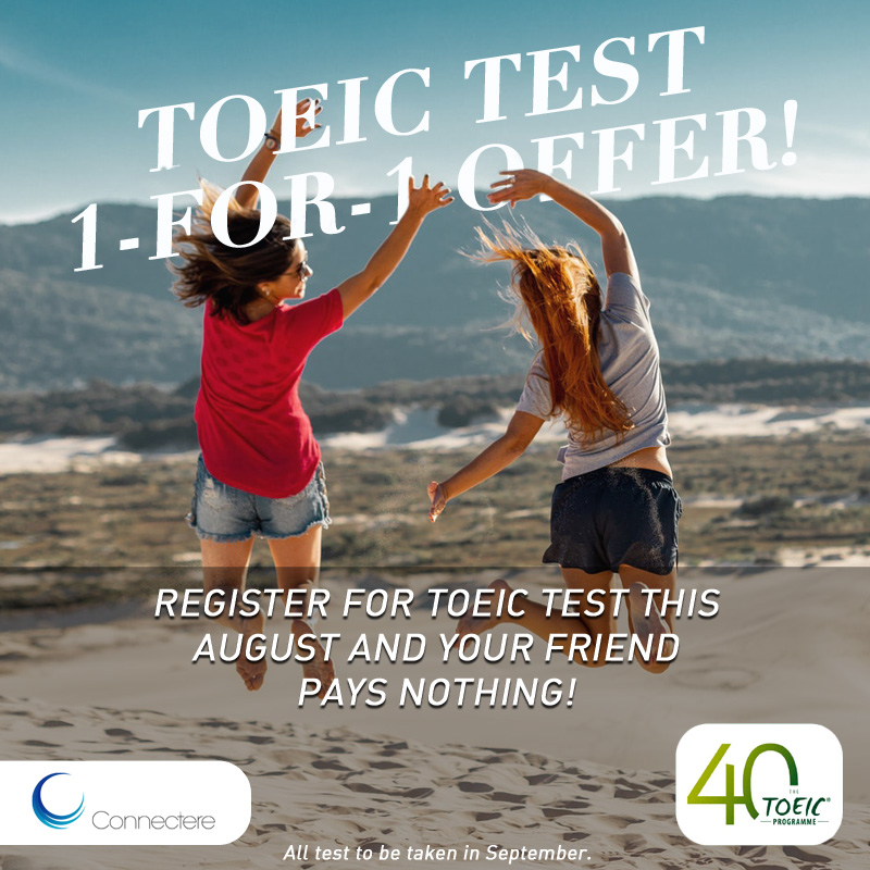 TOEIC test, Singapore, 1-for-1 offer